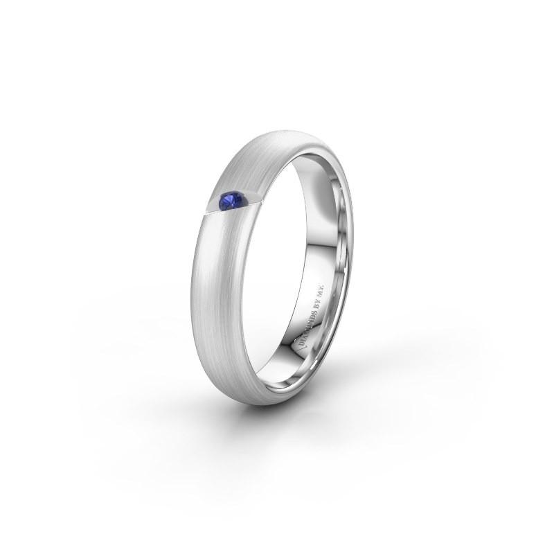 Wedding ring WH0176L34AP 925 silver sapphire ±4x1.7 mm