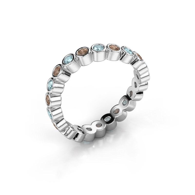 Ring Liz 925 zilver bruine diamant 0.330 crt