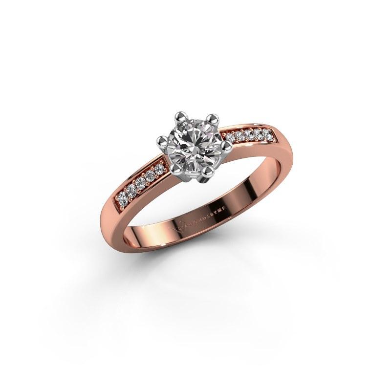 Verlovingsring Luna 2 585 rosé goud diamant 0.50 crt