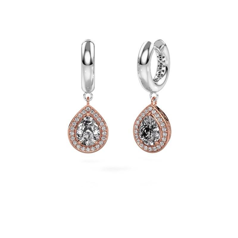 Oorhangers Barbar 1 585 rosé goud diamant 2.065 crt