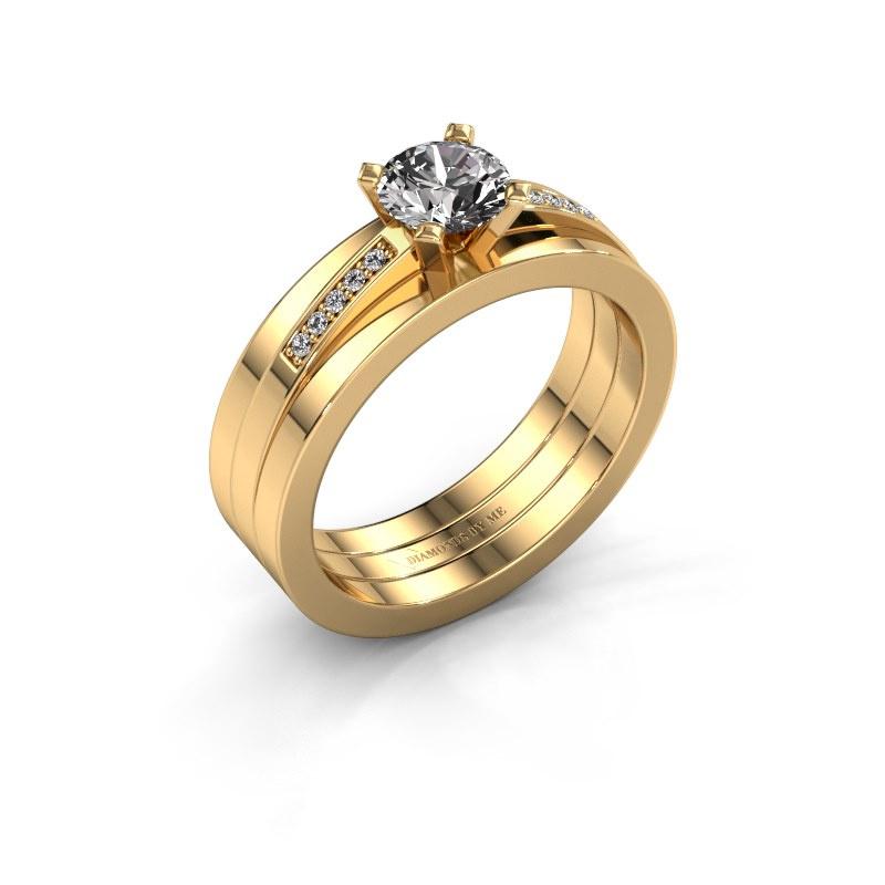 Verlobungsring Celeste 585 Gold Diamant 0.65 crt