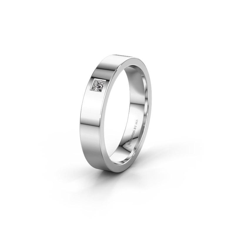 Trouwring WH0101L14APSQ 585 witgoud diamant ±4x1.7 mm