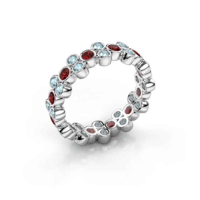 Ring Victoria 925 Silber Granat 2.4 mm