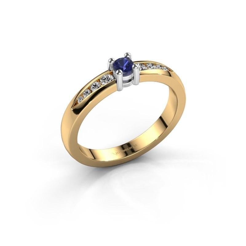 Verlovingsring Zohra 585 goud saffier 3 mm