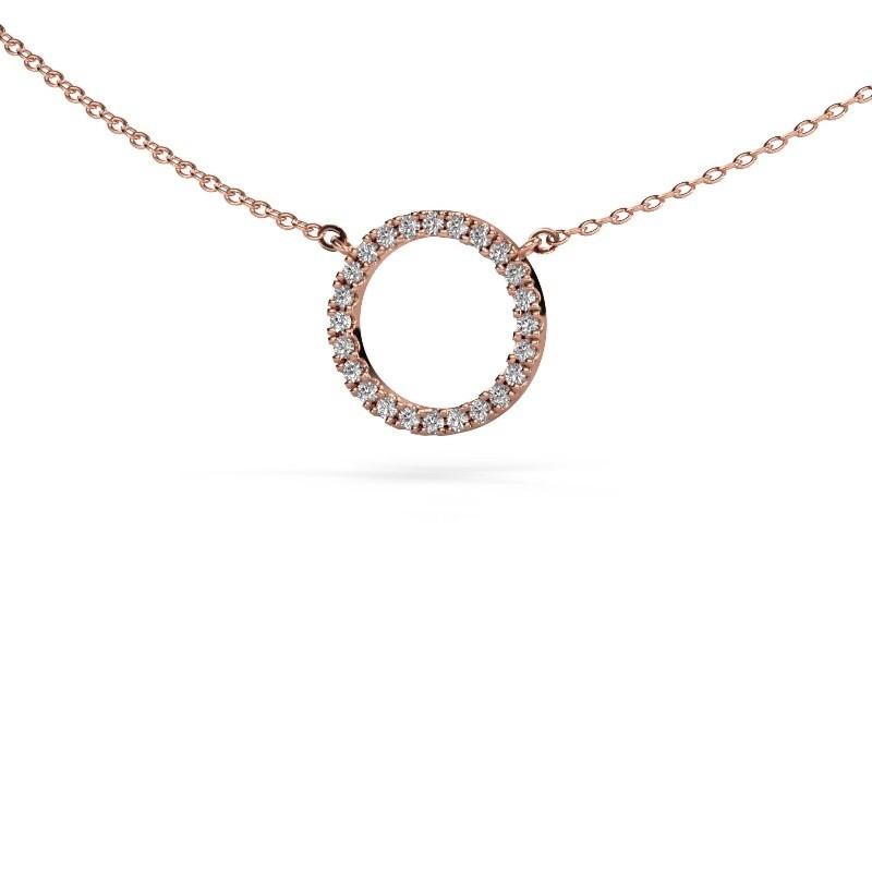 Hanger Circle 375 rosé goud lab-grown diamant 0.18 crt