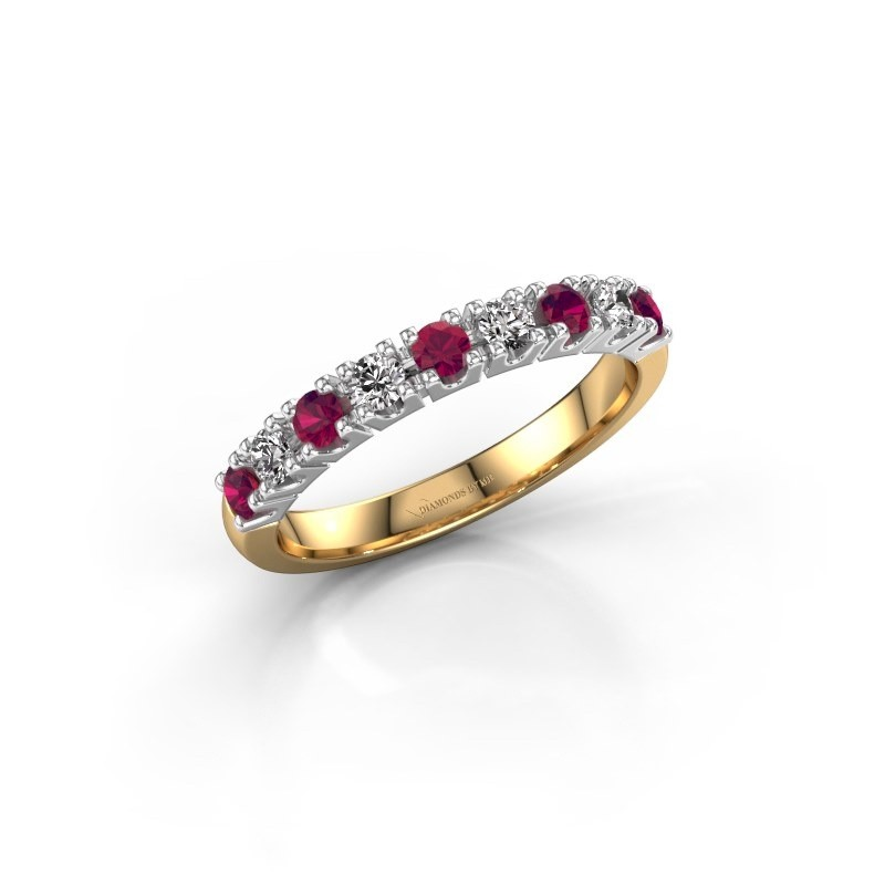 Engagement ring Rianne 9 585 gold rhodolite 2.4 mm