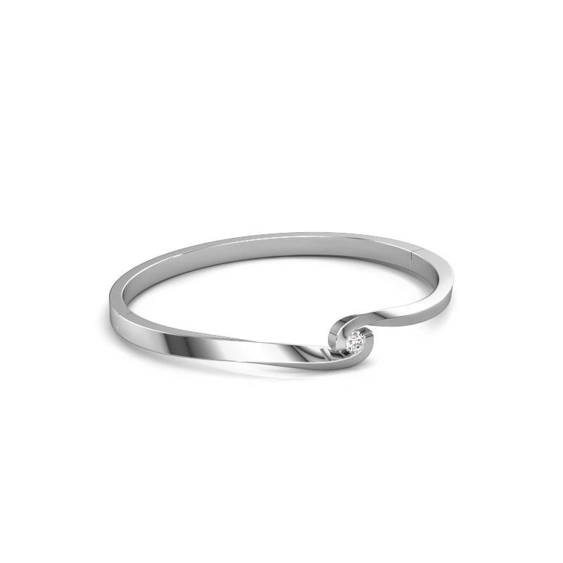 Bangle Sheryl 585 white gold diamond 0.25 crt