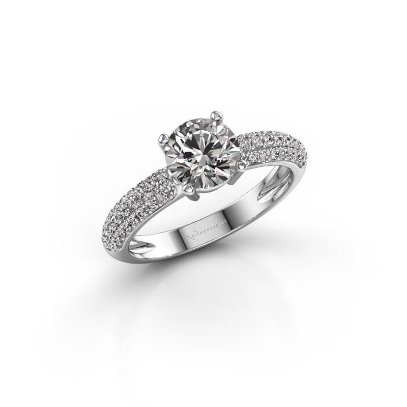 Verlobungsring Marjan 585 Weißgold Diamant 1.369 crt