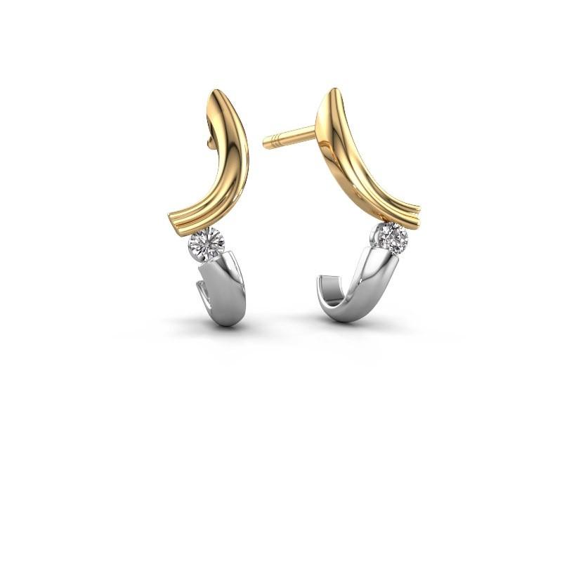 Oorbellen Tish 585 goud diamant 0.12 crt