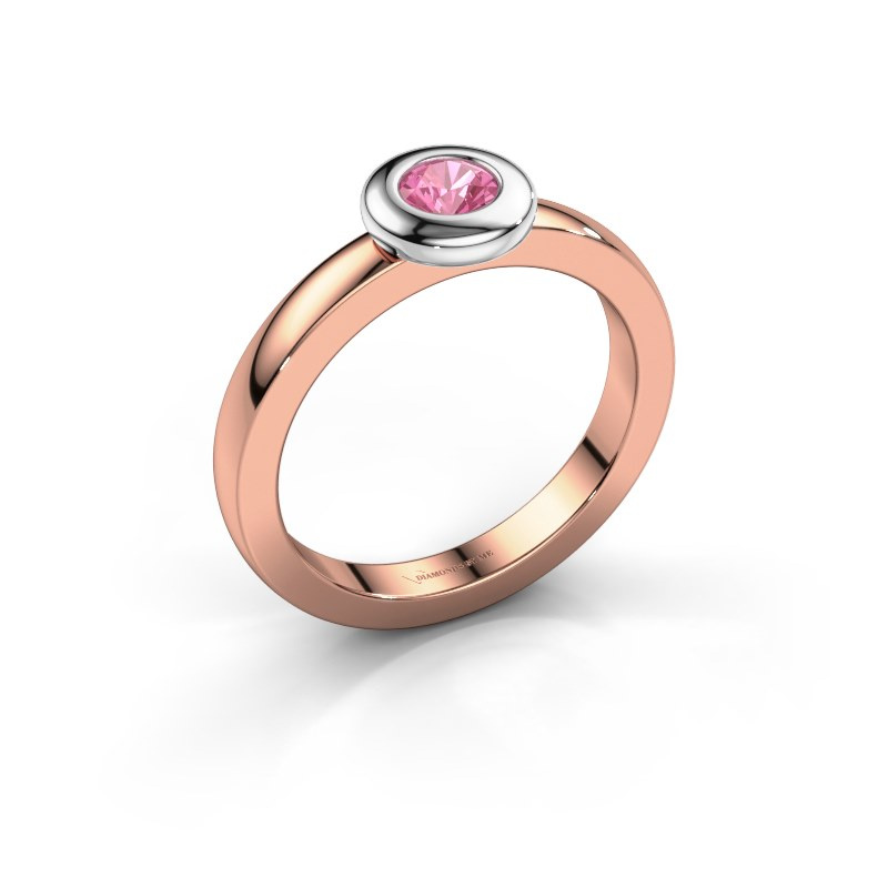 Ring Iris 585 rose gold pink sapphire 4 mm