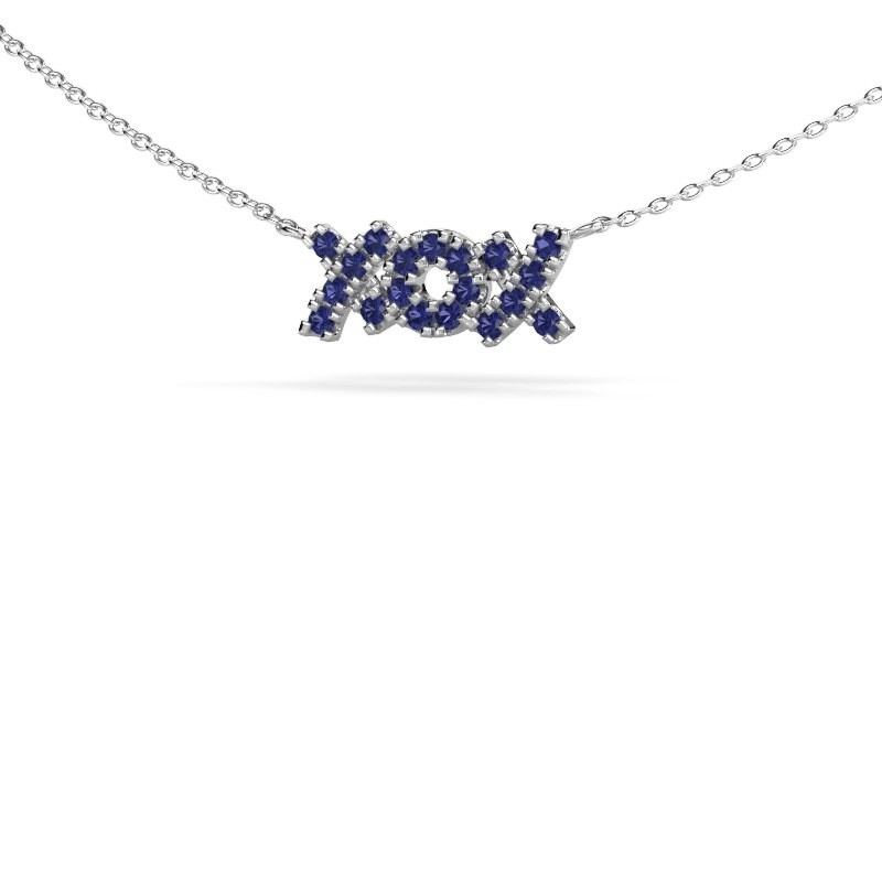 Ketting XoX 925 zilver saffier 1.5 mm