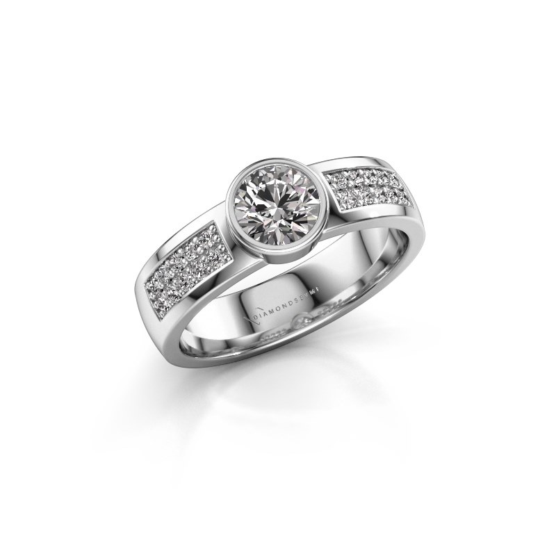 Engagement ring Ise 3 925 silver diamond 0.65 crt