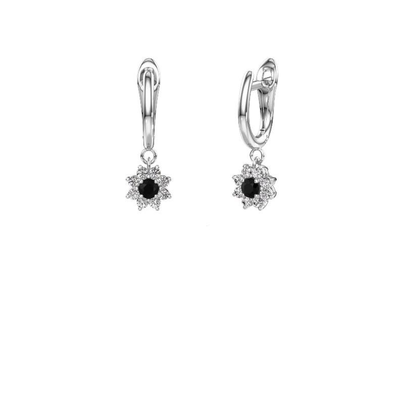 Drop earrings Camille 1 950 platinum black diamond 0.56 crt