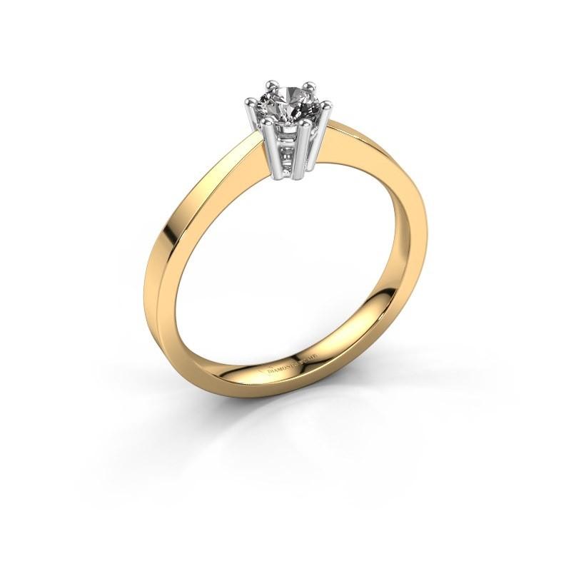 Engagement ring Noortje 585 gold diamond 0.30 crt