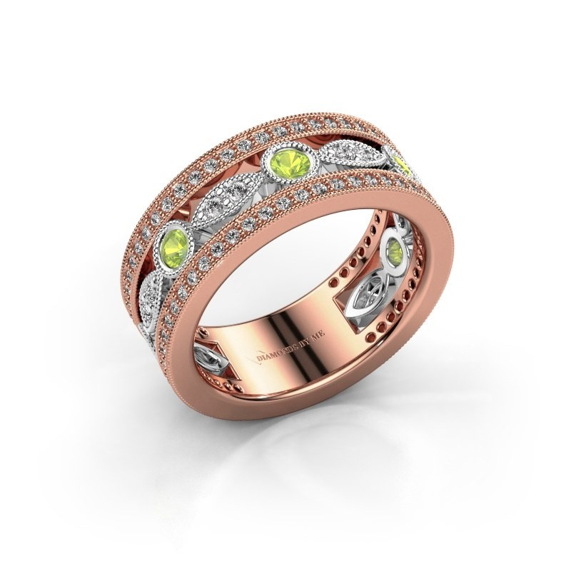Ring Jessica 585 rosé goud peridoot 2.5 mm