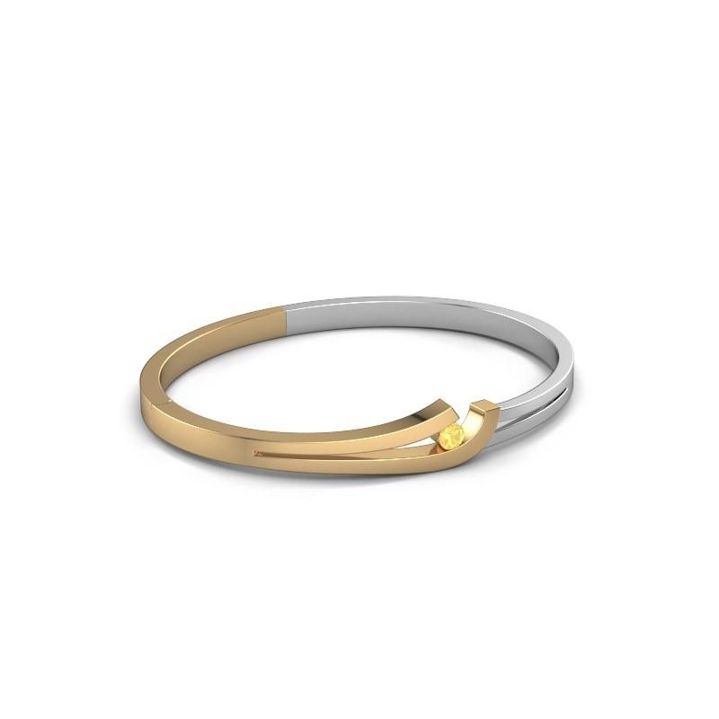 Slavenarmband Yentl 585 goud gele saffier 3.7 mm