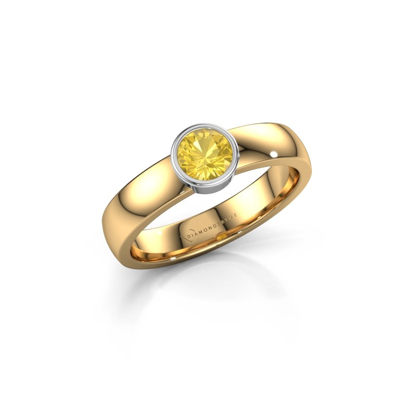 Ring Ise 1 585 gold yellow sapphire 4.7 mm