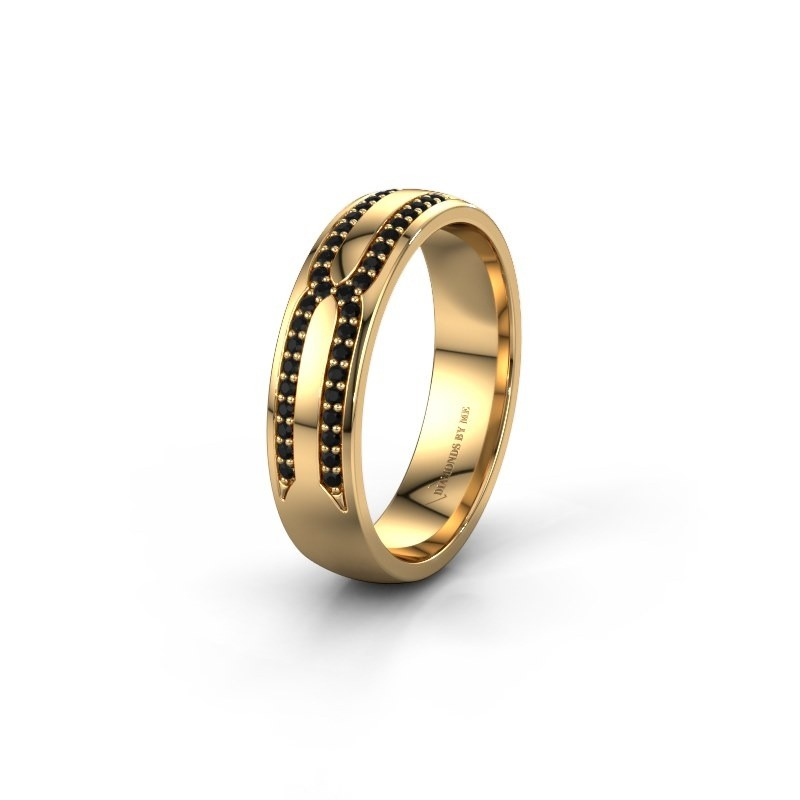 Wedding ring WH2212L25AP 375 gold black diamond ±5x1.7 mm