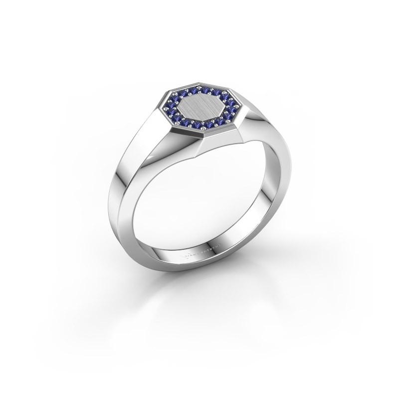 Pinky ring Floris Octa 1 950 platinum sapphire 1.2 mm