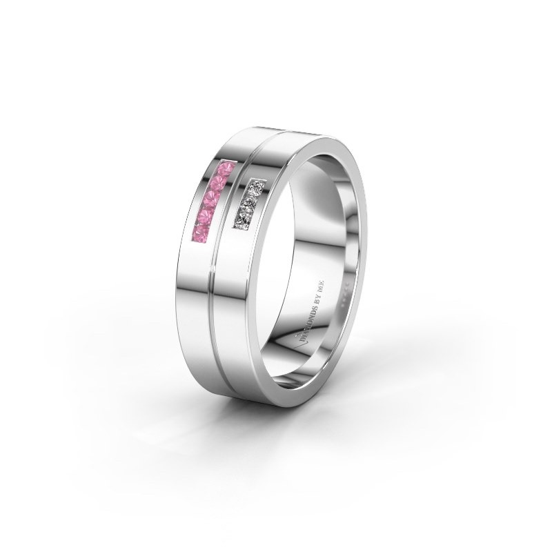 Ehering WH0207L16AP 925 Silber Pink Saphir ±6x1.7 mm