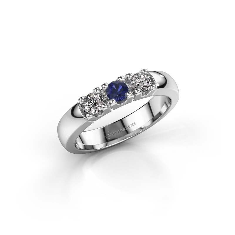Engagement ring Rianne 3 585 white gold sapphire 3.4 mm