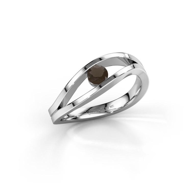 Aanzoeksring Sigrid 1 925 zilver rookkwarts 3.7 mm