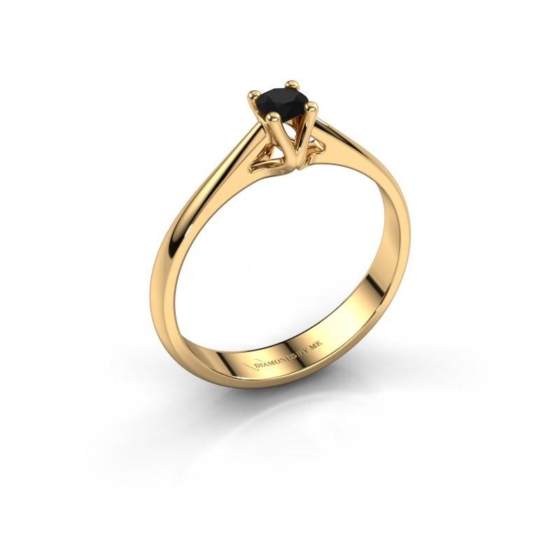 Verlobungsring Janna 1 375 Gold Schwarz Diamant 0.18 crt