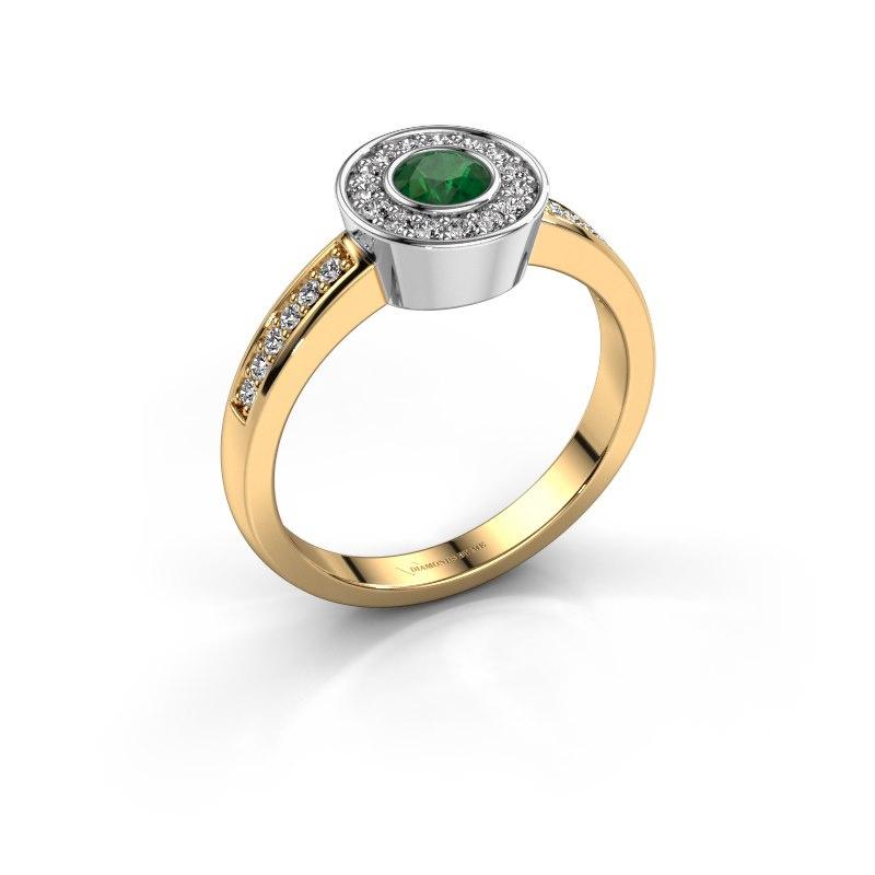 Ring Adriana 2 585 gold emerald 4 mm