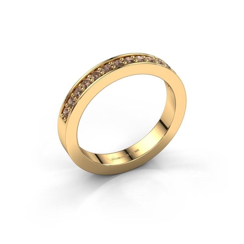 Aanschuifring Loes 6 375 goud bruine diamant 0.28 crt