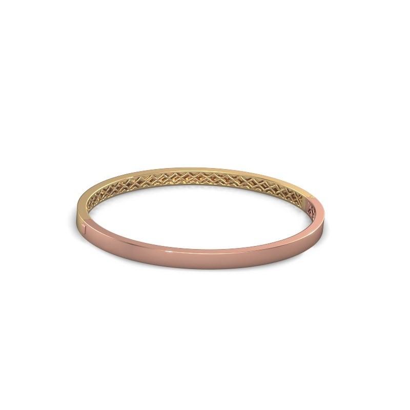 Slavenarmband Aukje 4mm 585 rosé goud