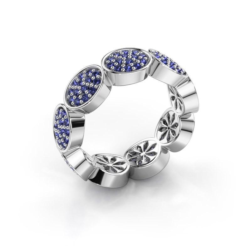 Ring Robin 925 zilver saffier 1.2 mm