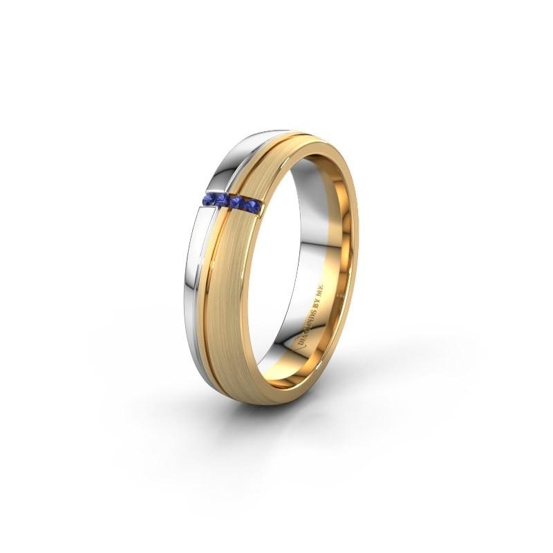 Weddings ring WH0909L25X 585 gold sapphire ±5x1.5 mm
