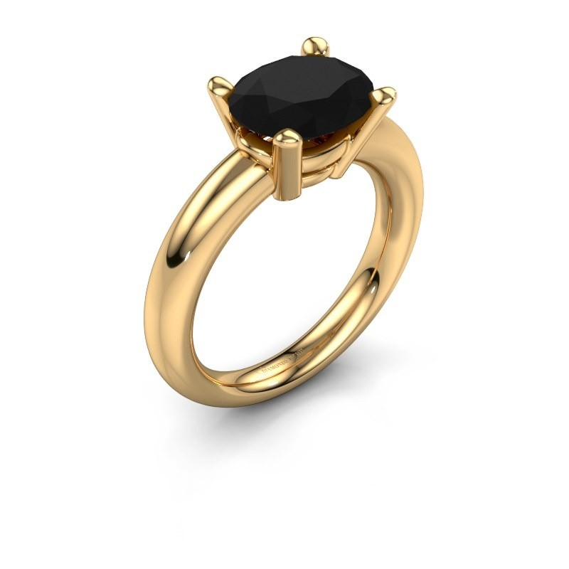 Ring Janiece 585 goud zwarte diamant 3.24 crt