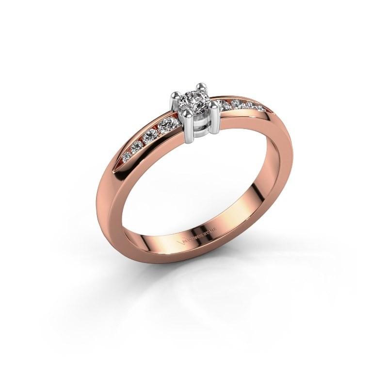 Verlovingsring Zohra 585 rosé goud lab-grown diamant 0.237 crt