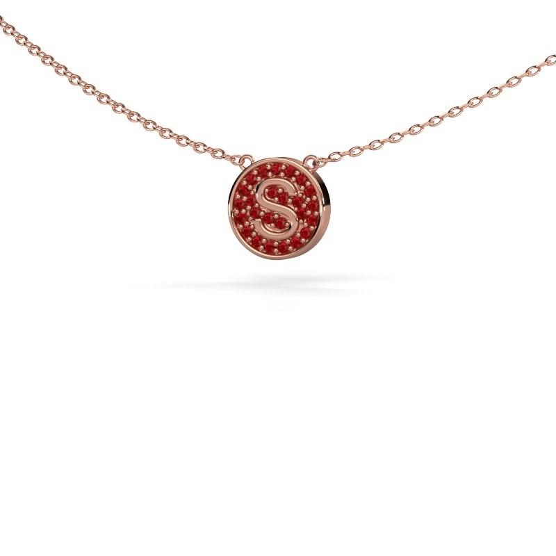 Initial pendant Initial 100 375 rose gold