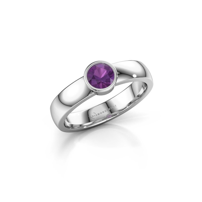 Ring Ise 1 925 silver amethyst 4.7 mm