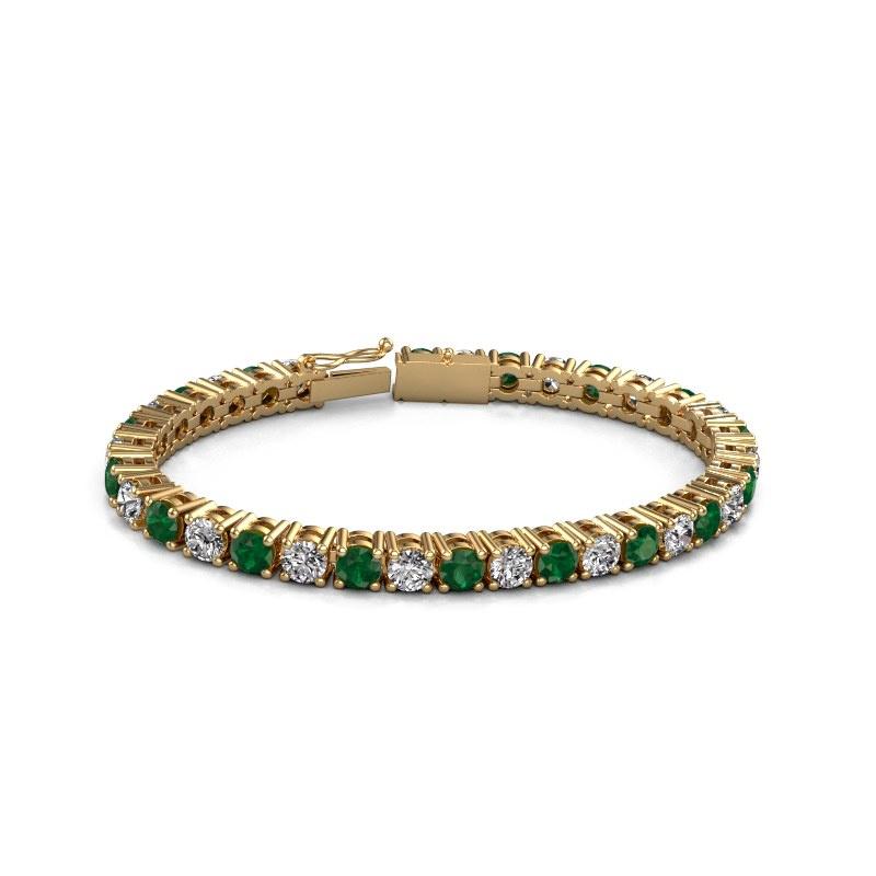Tennisarmband Karin 5 mm 375 goud smaragd 5 mm