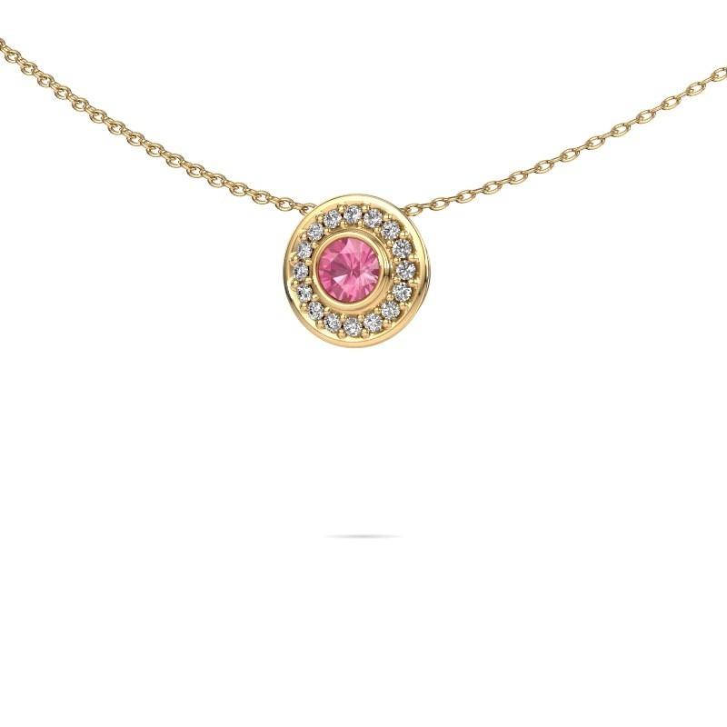 Ketting Gretta 375 goud roze saffier 4 mm