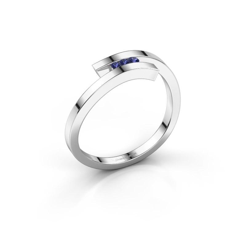 Ring Juliette 925 zilver saffier 1.6 mm