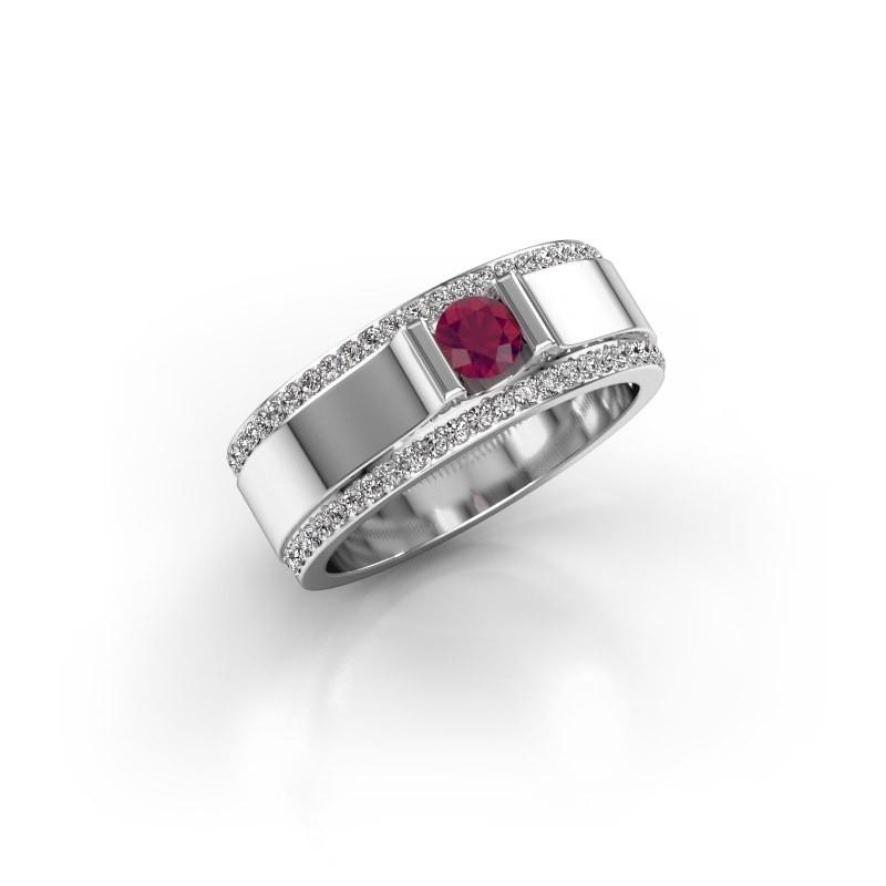 Men's ring Danillo 950 platinum rhodolite 4.2 mm