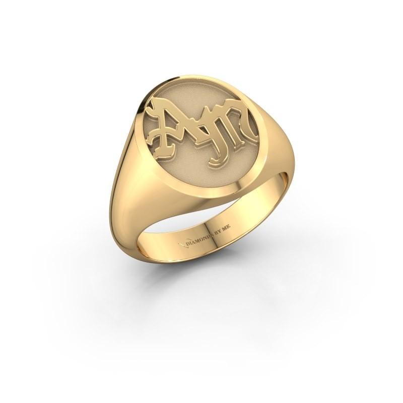 Monogram ring Brad 585 goud