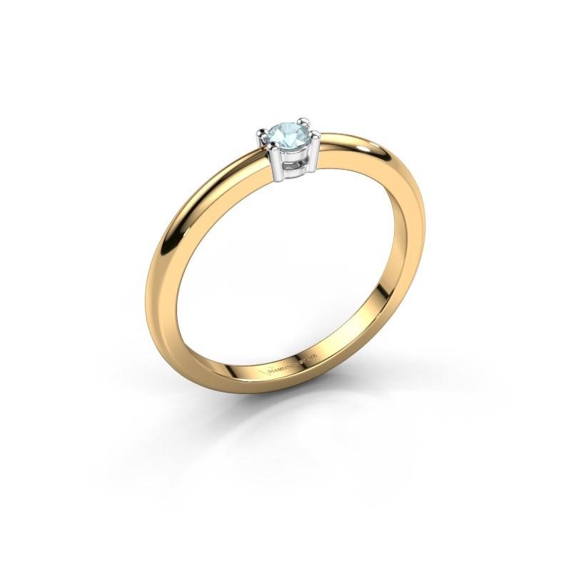 Verlovingsring Michelle 1 585 goud aquamarijn 2.7 mm