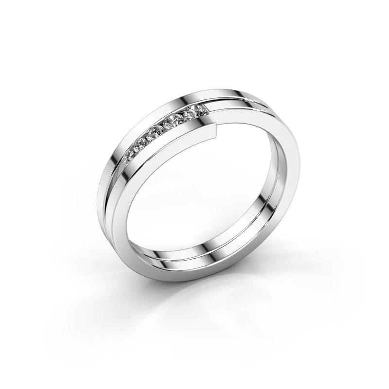 Bague Cato 925 argent diamant synthétique 0.125 crt
