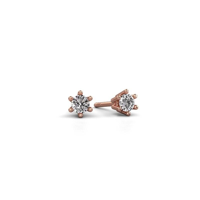 Oorbellen Fay 375 rosé goud lab-grown diamant 0.15 crt