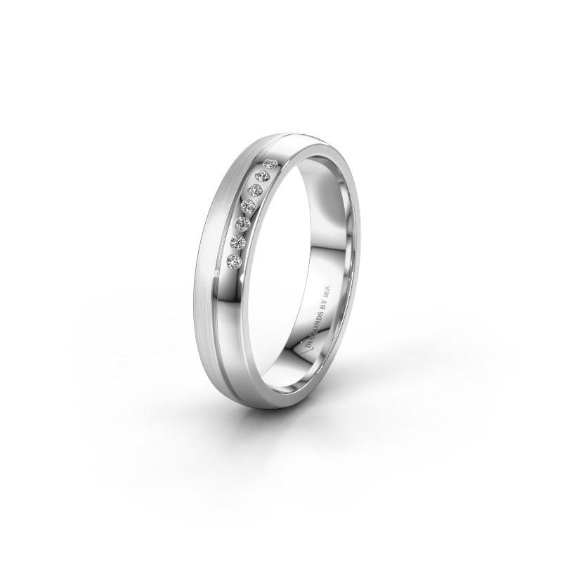 Wedding ring WH0216L24APM 925 silver zirconia ±4x1.7 mm