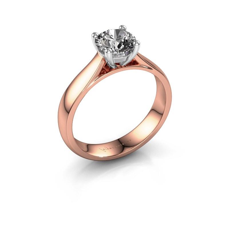 Bague de fiançailles Sam 585 or rose diamant 1.00 crt