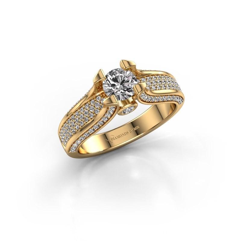 Verlovingsring Jeanne 2 375 goud zirkonia 5 mm