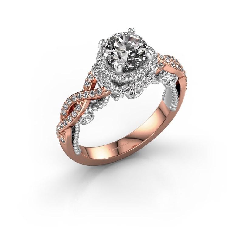 Verlobungsring Leora 585 Roségold Diamant 1.438 crt