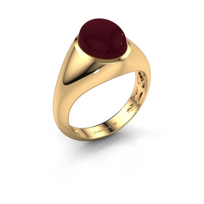 Ring Zaza 375 goud granaat 10x8 mm