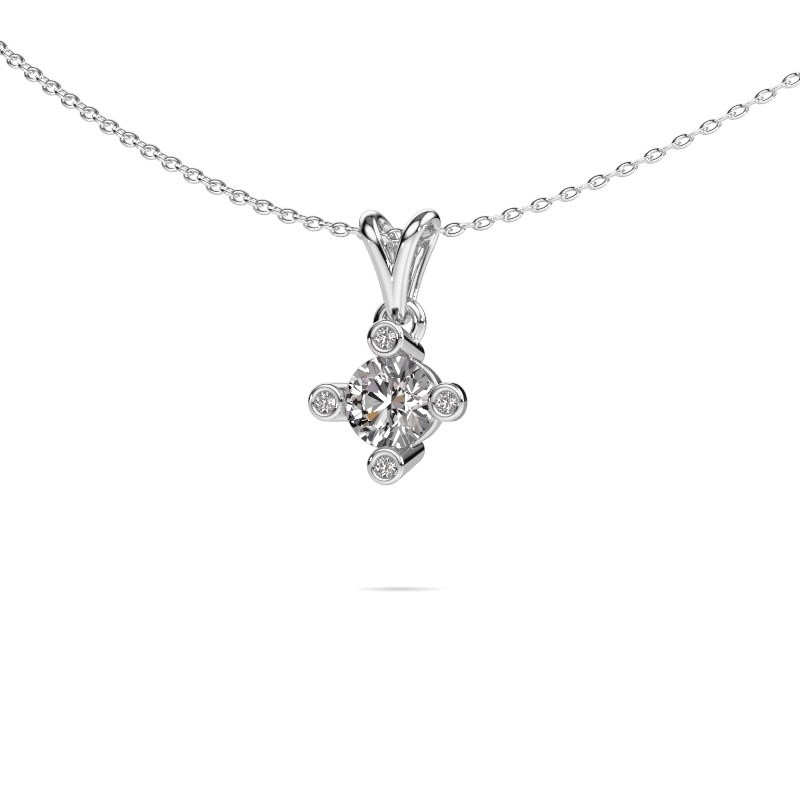 Hanger Cornelia Round 950 platina lab-grown diamant 0.62 crt